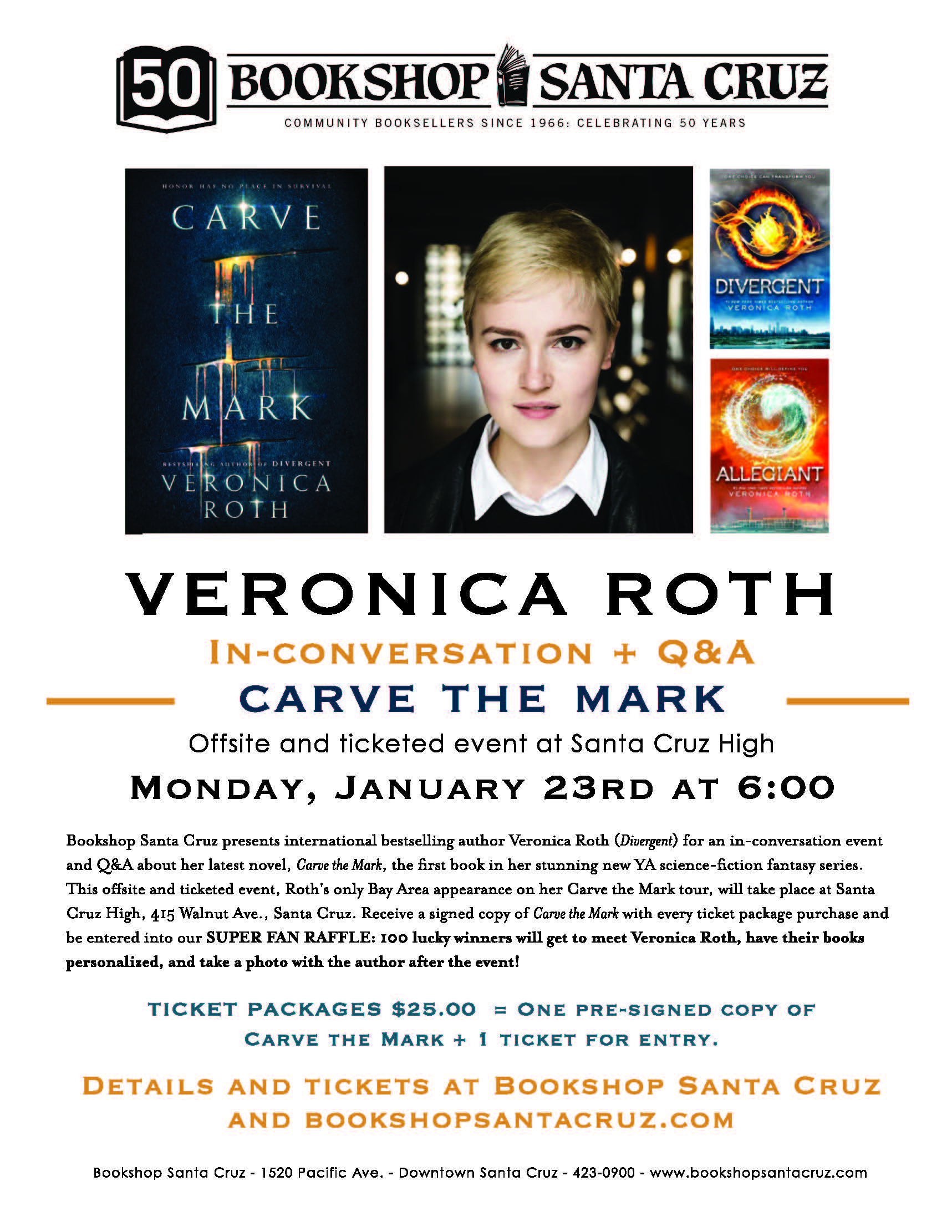 Veronica Roth Bookshop Santa Cruz